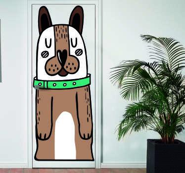Vinilo para puerta perro colores