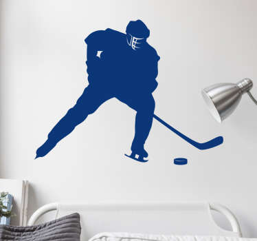 Fantastic teens room wall sticker with an ice hockey player. Choose the size and the colour that will be perfect fot your room!