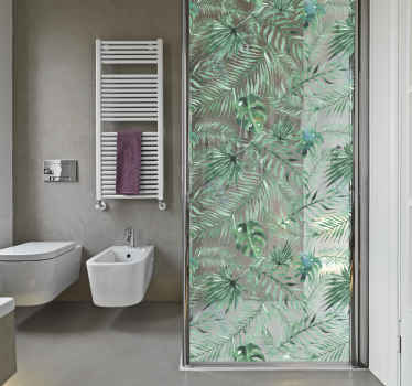 Tropical Plants Shower Decal