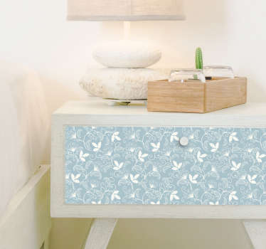 High quality furniture decor sticker with an elegant decoration of subtle floral ornaments will be a perfect decoration for your bathroom or kitchen!