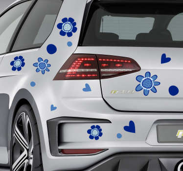 Decorate a vehicle surface with our flower prints car decal that host different design style. It is available in any size required.