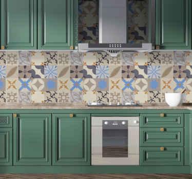 Naklejka na ścianę do kuchni wzory geometryczne