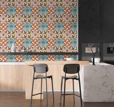 Autocolantes azulejos de mosaico hidráulico