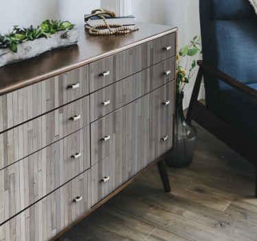 Stampa adesiva per parete effetto legno