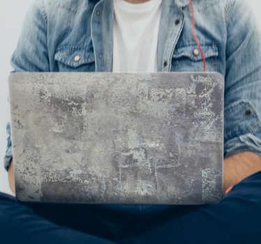 Naklejka na laptopa betonowa faktura