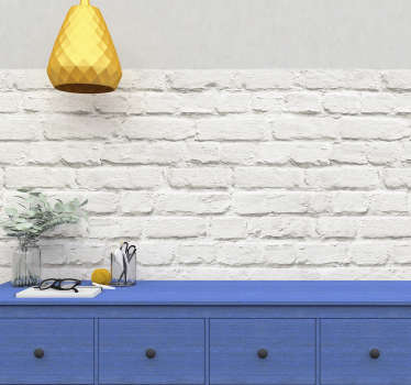 Vinilo ladrillo blanco para pared