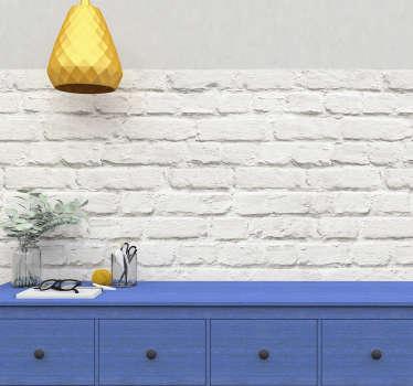 Adesivo a imitar muro branco