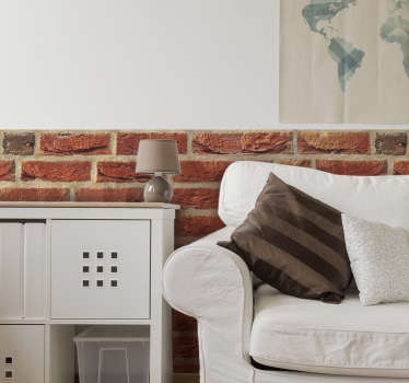 An adhesive brick stone texture wall decal to decorate any wall space with the original appearance of a brick wall. We have it in any size needed.