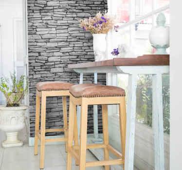 Adesivo parede muro de pedra