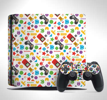 Gaming Assortment PS4 Skin Sticker
