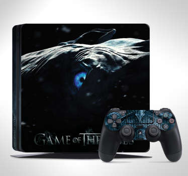 Winter is Coming. Decorate your PS4 and controller with this superb Night King Game of Thrones PS4 skin. Choose your size.