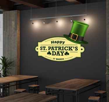 St. Patrick's day muursticker