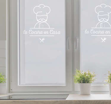 Restaurant vinyl sticker to decorate a glass door or window of a restaurant space. It is easy to apply and available in  different colours and size.