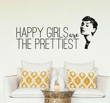 Adesivo decorativo Audrey Hepburn