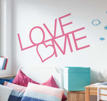 Naklejka na ścianę Love me