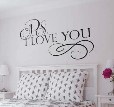 Adesivo de parede ''P.S. I love you''