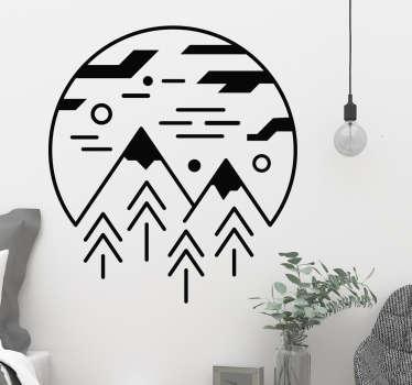 Minimalistinen sisustustarra vuoret