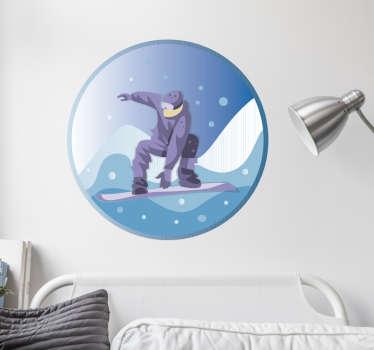 Wandtattoo Snowboarder