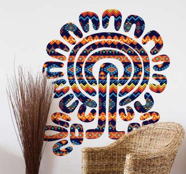 Decalcomania della parete albero azteco