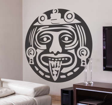 Vinilo decorativo azteca símbolo