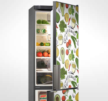 Put life in your fridge or freezer with the Mexican fruits  sticker, your kitchen will feel fresh with new aura. Buy it in any size.
