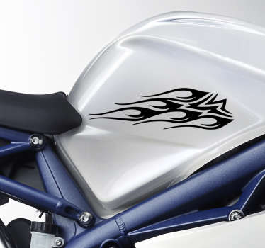 Fantastic tribal design sticker for motor bike, your motor bike is gonna a be amazing and super cool. Easy to apply on all vehicle.
