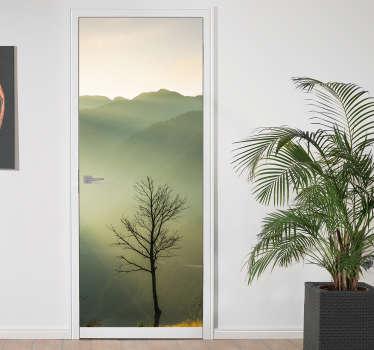 Foto-mural para porta natureza