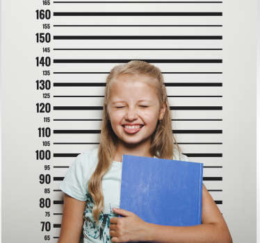 Jail meter  height chart wall sticker to decorate children bedroom space . It is easy to apply, self adhesive and highly durable.