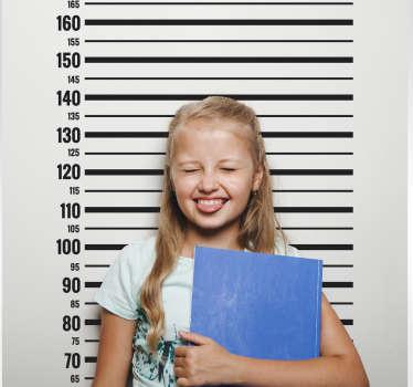 Adesivo de parede infantil para medição