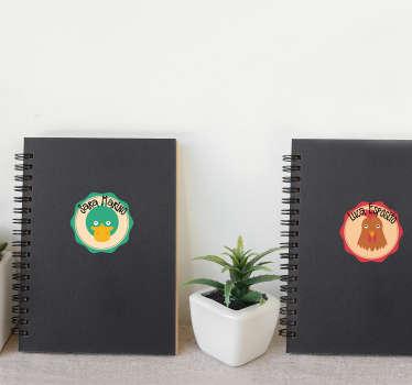 小学生的不干胶标签贴花,以有趣的方式装饰书籍和个人装饰品。因为它是自粘的,所以易于应用。