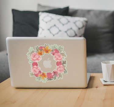Adesivo Macbook Fiori