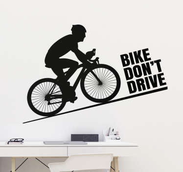 Muursticker Bike don't drive