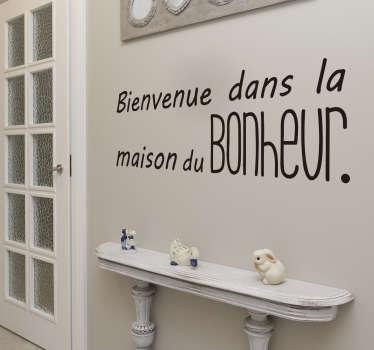 Sticker Entrée Maison du Bonheur