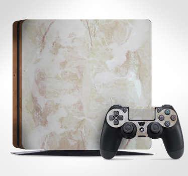 Vinilo para PS4 efecto mármol
