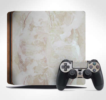 Naklejka na PS4 tektura marmur