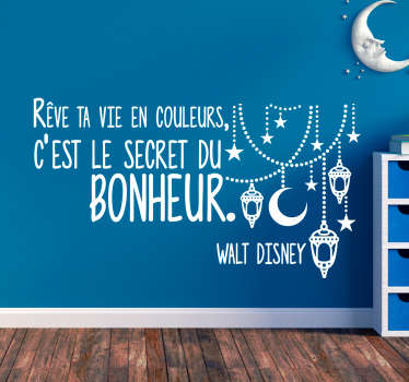 Sticker Maison Chanson Disney