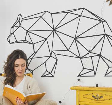 современная и креативная настенная наклейка с эффектом оригами показывает, что ходьба медведя украсит вашу гостиную, спальню или любую другую гладкую поверхность восточной наклейкой на стену.