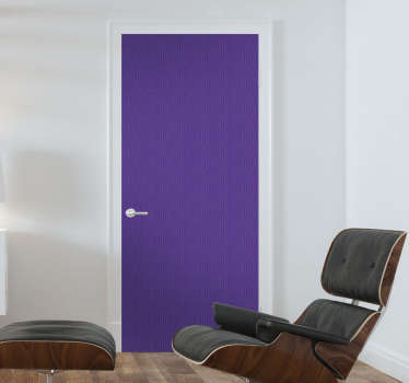 Purple adhesive foil door sticker to decorate any door surface. It is easy to apply and available in any required dimension.