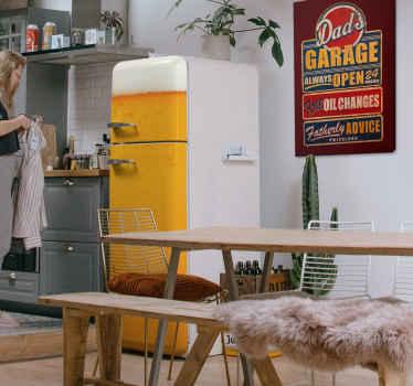 Vinilo para puertas frigorífico cerveza