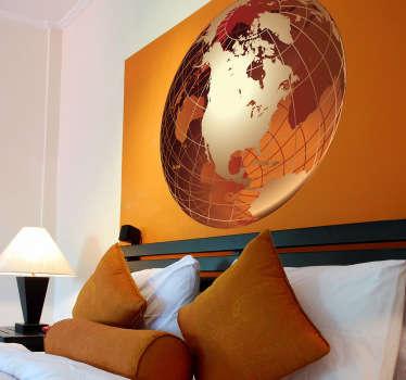 Sticker decorativo globo dorato USA