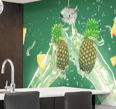 Fruit wall mural sticker to decorate a kitchen or dinning space. Available in any size needed and it application is easy.