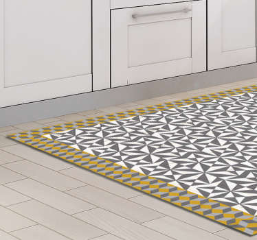 An Arabic decorative mosaic floor sticker to decorate a floor space in a home or any place of choice. Available in any required size.