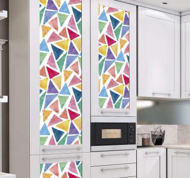 Meubelsticker gekleurde driehoeken