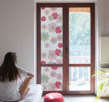 Blommiga fönsterhäftande tusenskönor