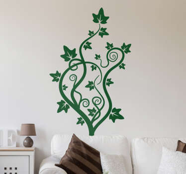 Creeper plant wall sticker to decorate a home space.It is available in different colours and size options. Easy to apply and adhesive.