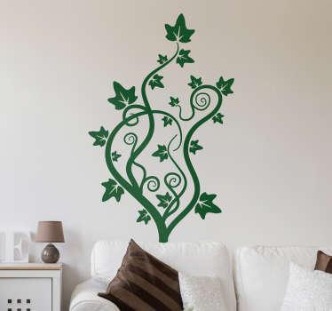 Vinilo decorativo dibujo enredadera