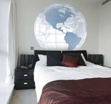 Sticker decorativo globo trasparente Americhe