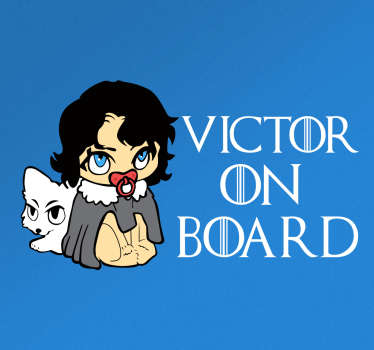 Jon Snow on Board Vehicle Sticker