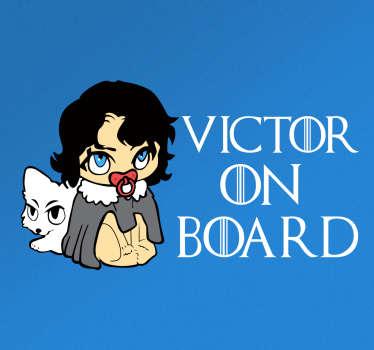Jon Snow on Board Vehicle Sticker