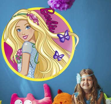 Adesivo de parede infantil Barbie